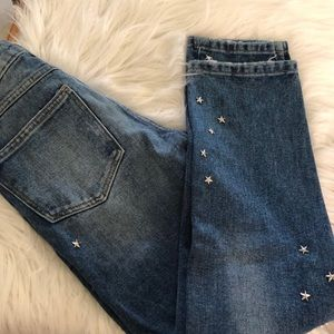 Zara Trf Denim high Rise skinny with Rhinestone